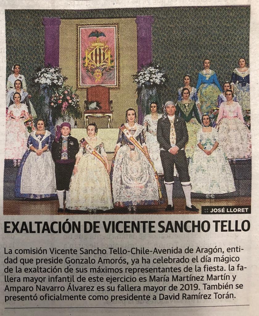 Presentación Sancho Tello - Avda. Aragón 2019